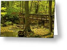 On An Autumn Walk Greeting Card