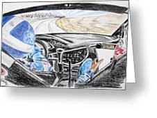 On Board Colin Mcrae Greeting Card