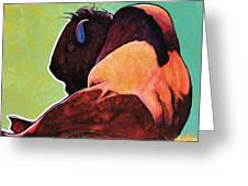 On Empty Bison Greeting Card