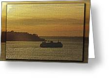 On Golden Sound Greeting Card