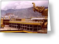 On Jokhang Monastery Rooftop Greeting Card