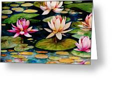 On Lily Pond Greeting Card