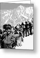 On Mount Blanc Greeting Card