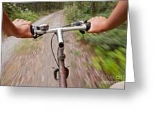 On My Mountain Bike Greeting Card