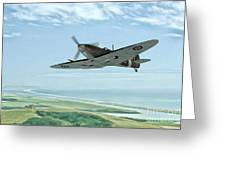 Spitfire On Patrol Greeting Card