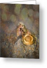 On Stage The Trumpeter Greeting Card