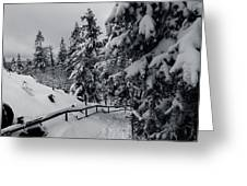 on the Achtermann, Harz Greeting Card