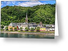 On The Banks Of The Rhine  Greeting Card