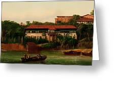 On The Banks Of The River Greeting Card