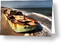 On The Beach II - Outer Banks Greeting Card by Dan Carmichael