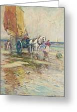 On The Beach  Greeting Card by Oswald Garside