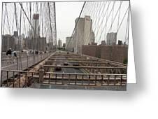 On The Brooklyn Bridge Greeting Card