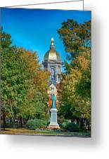 On The Campus Of The University Of Notre Dame Greeting Card