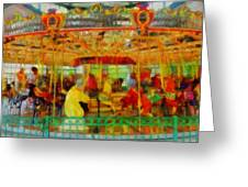 On The Carousel Greeting Card