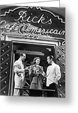 On The Casablanca Set Greeting Card
