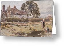 On The Common Hambledon Surrey Greeting Card