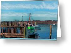 On The Dockside Bristol Rhode Island Greeting Card