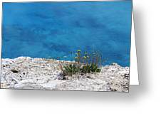 On The Edge Of Blue Greeting Card