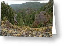 On The Edge Of The Cheakamus River Gorge Greeting Card