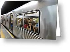 On The Metro - Sao Paulo Greeting Card