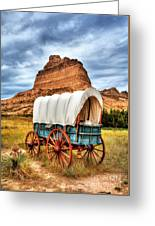 On The Oregon Trail 3 Greeting Card