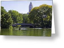 On The Pond - Central Park Greeting Card