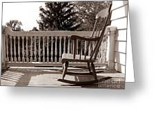 On The Porch Greeting Card
