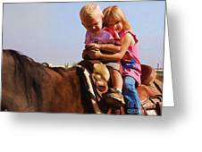 On The Ranch Greeting Card