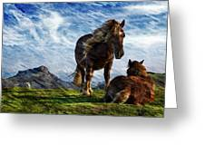 On The Range Greeting Card