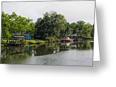 On The River In Baldwin County Alabama Greeting Card