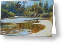 On The River Greeting Card by Nancy Stutes