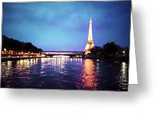 On The River Seine Greeting Card