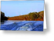 On The Rivers Bend Greeting Card