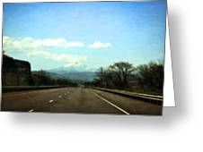 On The Road To Mount Hood Greeting Card