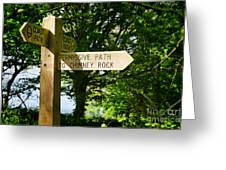 On The Road To Ruin Greeting Card