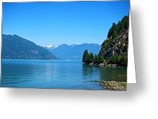 On The Road To Whistler Greeting Card