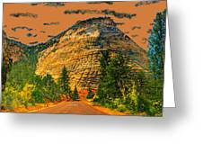 On The Road To Zion Greeting Card