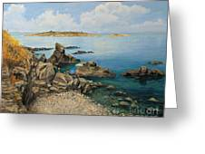 On The Rocks In The Old Part Of Sozopol Greeting Card