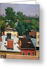 On The Roof Greeting Card