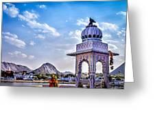 On The Shores Of Pushkar Lake Greeting Card