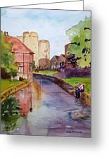 On The Stour River -canterbury Greeting Card