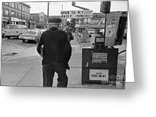 On The Street - Broadway Greeting Card