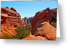 On The Trail At Arches Np Greeting Card