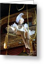 On The Trapeze Greeting Card