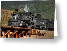 On The Trestle Greeting Card