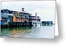 Buildings On The Water  Greeting Card