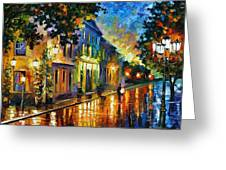 On The Way To Morning Greeting Card by Leonid Afremov