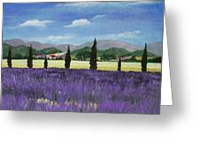 On The Way To Roussillon Greeting Card