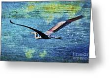 On The Wings Of Blue Greeting Card