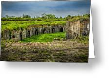 On Top Of Fort Macomb Greeting Card by David Morefield